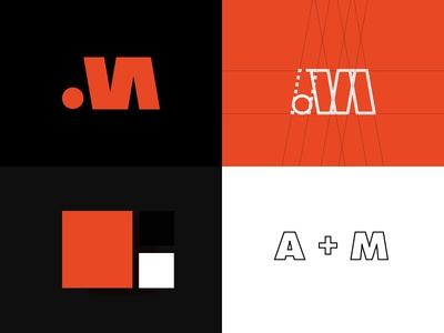 Monogram logo design - AM