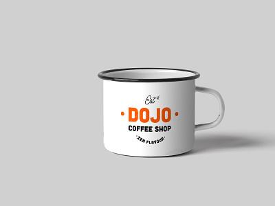 Dojo coffee mug coffeebrand mug coffee mug modernism branding illustration logo design vector minimal illustrator