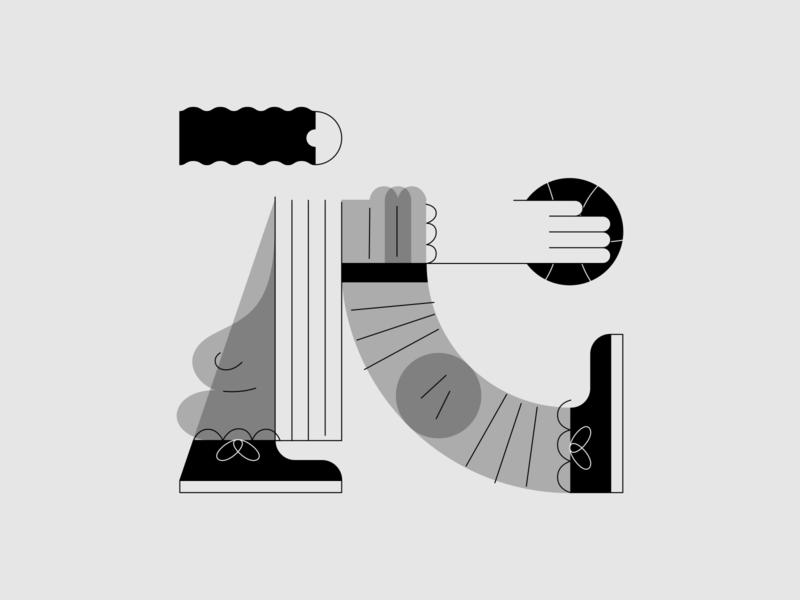 G-man flat illustration fashion man basketball typography 36daysoftype vectornator illustration design
