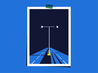 Caution does no harm traffic graphic design vector 2d art illustration flat illustration vectornator design
