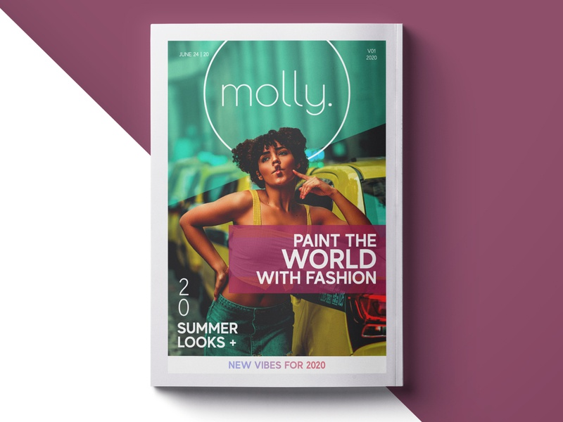 Molly - Magazine Cover Design logo print corporate identity design branding cover design magazine design