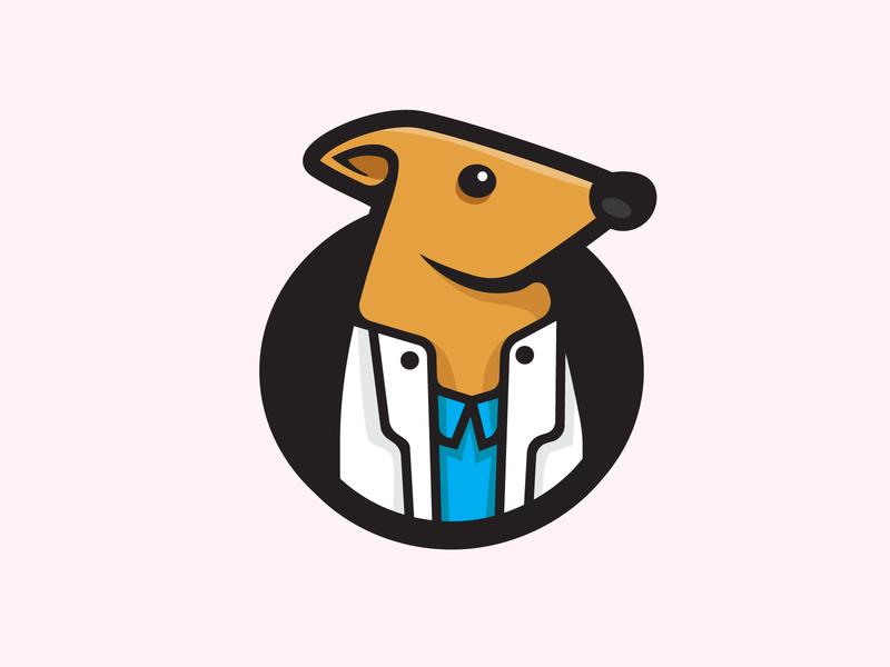 Medical Rat minimalist illustration logo mascot vector rat design minimal logo