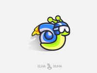 S SNAIL branding mascot flat logodesign illustration design minimal logo