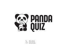 Panda Quiz icon minimalist vector mascott logodesign design minimal logo