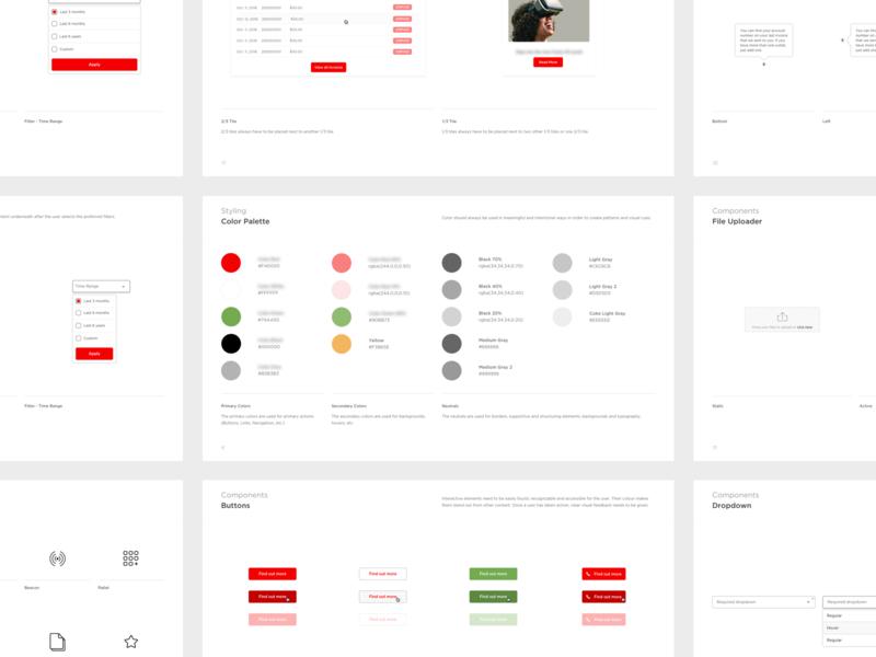 Digital Guidelines colorscheme colors palette easy simple styleguide guideline pdf colors typography input design columns category app grid minimal button ux ui list