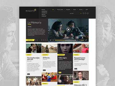 Quijote Films freelance layout ui ux flat website diseño web chile films video user interface