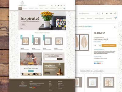 Bandara Home & Deco website chile deco product shop store e-commerce web design web
