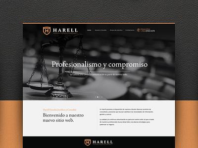 Harell juridico estudio abogados chile web design black law santiago html5 website ui