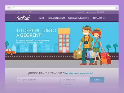 GeoRent chile santiago web design sitio web flat ui ux maps