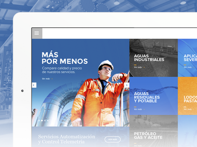 Aquaval freelance chile santiago web app ui ux blue tablet ipad