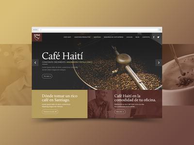 Café Haití café ui ux brown psd web santiago chile website coffee haiti