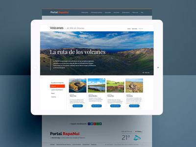 Portal Rapanui isla de pascua rapanui chile website webdesign ui