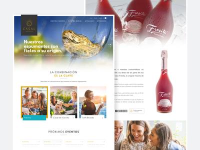 Casal Sparkling Brands vineyard ai ux woman sparkling wine casal chile website webdesign ui