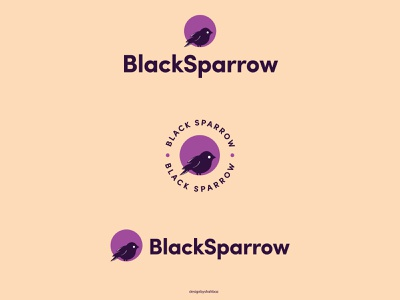 BLACK SPARROW black white adobe illustrator details logo logodesign