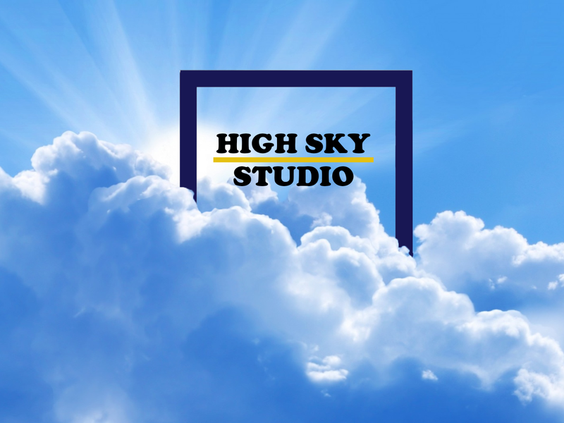 high sky studio cover photo illustrator design branding logo photoshop