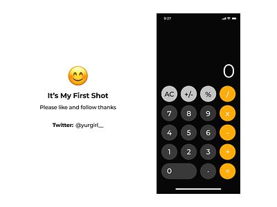 IOS Calculator typography flat app ux ui design ios app ios calculator app calculator ui calculate calculator
