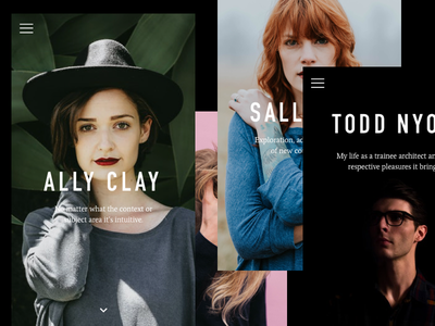 Pebble personal portfolios (mobile) typography product interface mobile app ios
