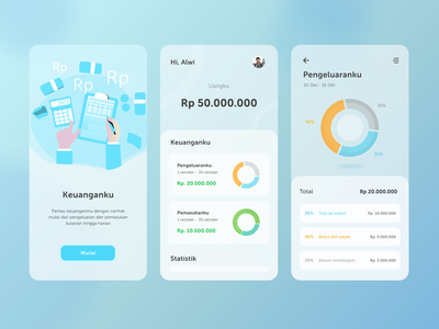 Keuanganku - Mobile App mobile app design design ios ios7 iphone ios app design ios app ios android mobile ui ux mobile ui design mobile ui kit mobile design mobile uiux mobile ui mobile