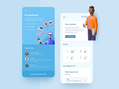 Online Test Dashboard - Mobile App branding ui illustration clean design android iphone mobile app design app design dashboard app dashboard mobile app design mobile design mobile app mobile ui uiux ui design