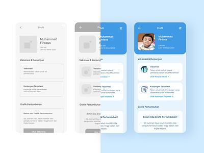 Design Process for Profile Feature - Vaccination App branding vaccine uidesign ios android mobile mobile app design mobile design mobile app mobile ui ui ui design