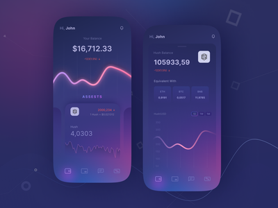Cryptocurrency Wallet App ios mobile design cryptocurrency wallet crypto mobile ui ui design mobile app design ui design