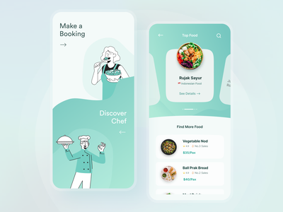 Private Chef and Food Booking App private chef meal food app cooking app booking chef mobile ui mobile app design ui design food branding motion graphics graphic design ui