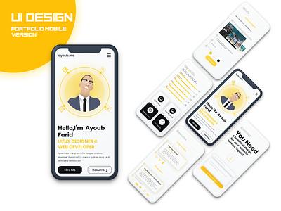 Ui portfolio 2021 mobile version uidesign flat app website web ux ui-ux design ui interface