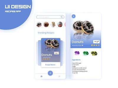 UI Recipes App web website app webdesign uidesign ux ui-ux design ui interface