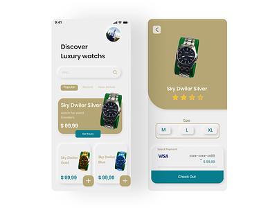 User Interface for a Luxury watchs minimal ux branding ui app webdesign uidesign ui-ux interface design
