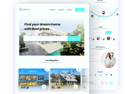 SellHome Landing Page branding ux web website webdesign uidesign ui ui-ux design interface