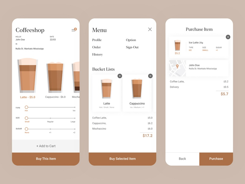 Coffeeshop App (Visual)