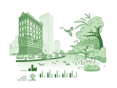 BioSEA's Ecosystem Services illustration infographic corporate illustration brand illustration
