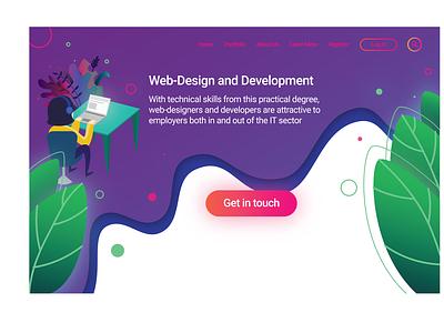 Landing page web illustration ui design ui illustration vector home page home page illustration flatdesign flat ui illustration design adobe illustrator landingpage website
