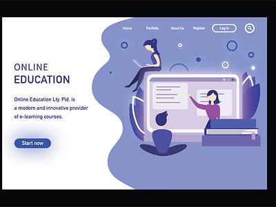 Landing page illustrator home page illustration vector landingpage ui home page illustration flat flatdesign adobe illustrator