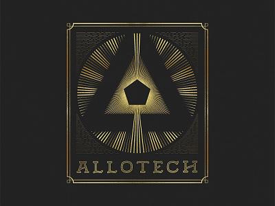 Allotech design type typography branding logo handletter lettering