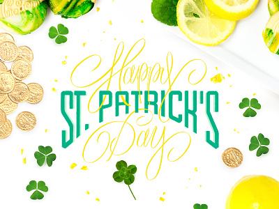 Happy St. Patrick's Day! typography type script logo lettering letter handlettered hand design calligraphy branding