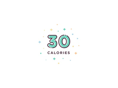 30 Calories design ui icon set illustration vector icon