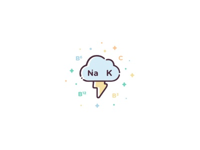 Electrolytes & Vitamins design ui icon set illustration vector icon