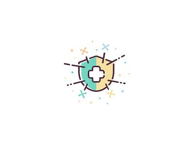 Immune System Health design ui icon set illustration vector icon