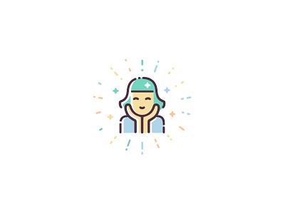 Skin Health & Anti-Aging design ui icon set illustration vector icon