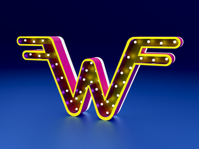 Days of type - W letters alphabet 3d art illustration 36days-w typographic weezer blendercycles lettering typography render 36 days of type b3d 36daysoftype blender3d blender 3d