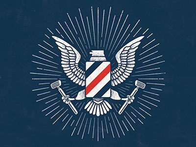 Barbasol Eagle badge america usa