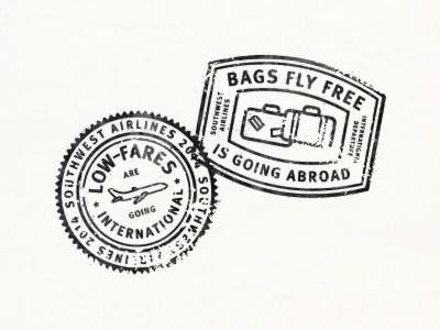 Passport Stamps Badge Stamp