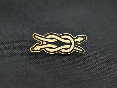 Snake Knot enamel pin knot snake