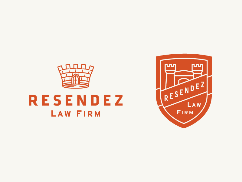 Resendez Law Firm badge identity logo