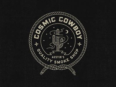 Cosmic Cowboy Badge cowboy space badge