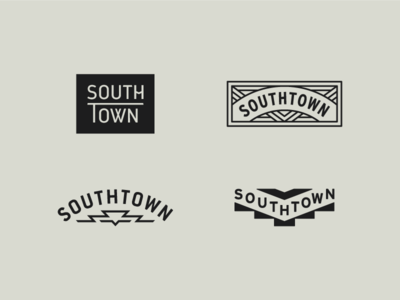 Southtown identity branding south badge logo
