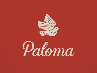 Paloma II lettering script dove identity branding logo
