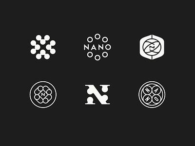 Nano nanotechnology science lockup badge logo nano