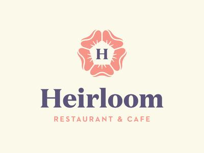 Heirloom flower branding logo